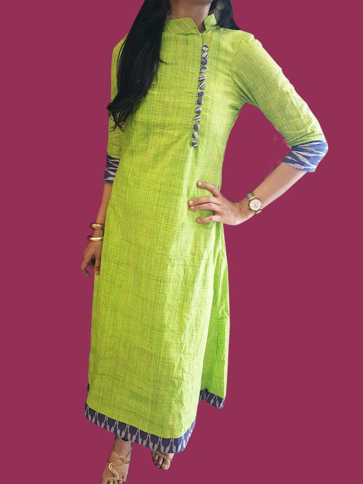 A Mughal-styled High Collar A-line Dress