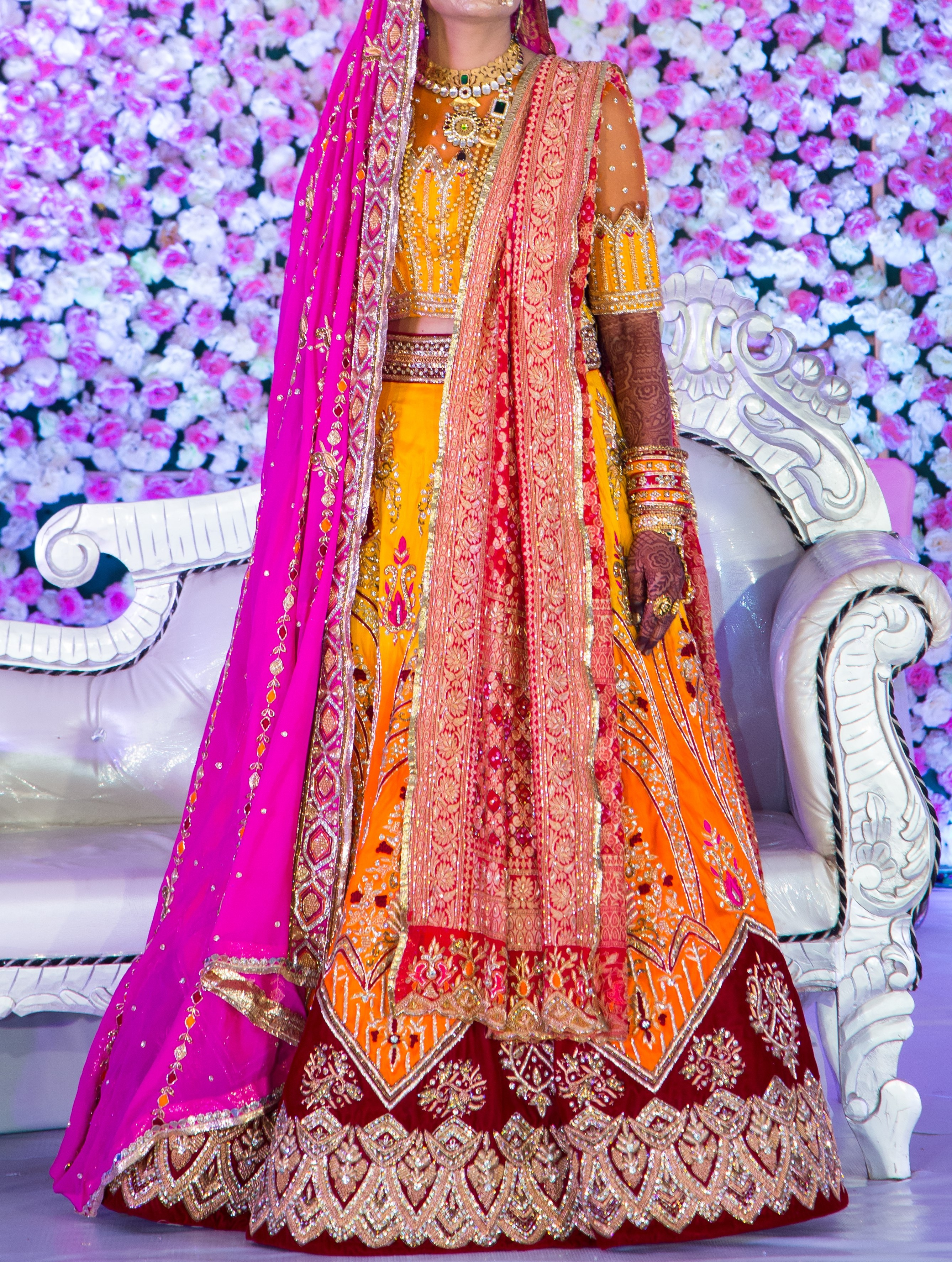 Lehanga Blouse and Dupatta Set for the Bride