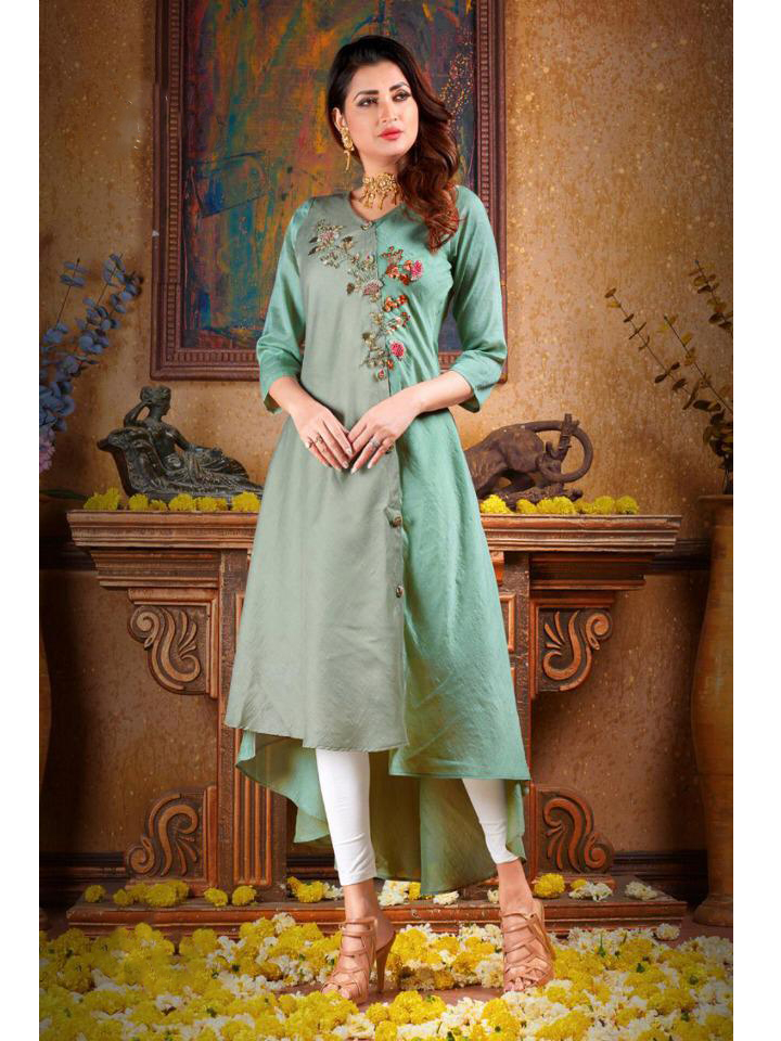 A Beautiful Handwork Muslin Kurthi