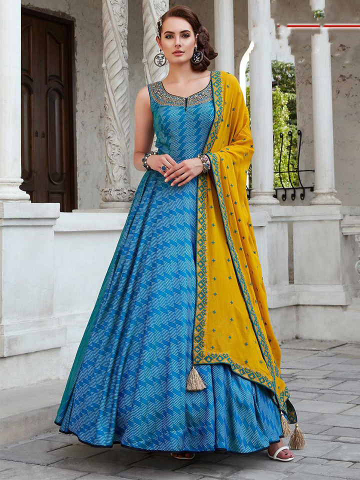 A Beautiful Khatli Handwork Gown