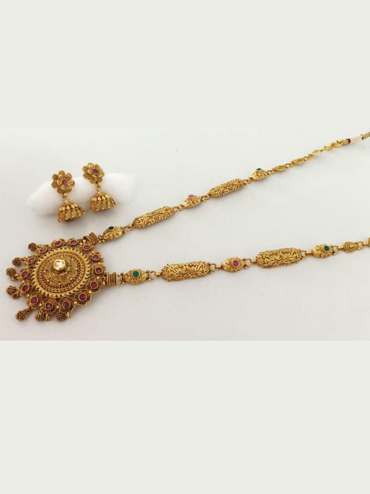 Gold-Plated Long Necklace Set