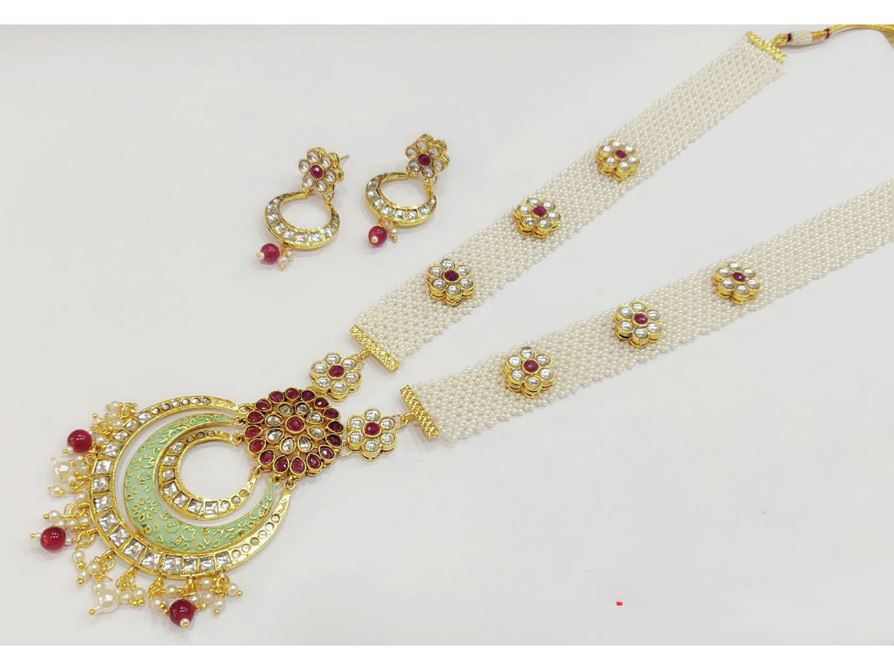 Pearls Net Long Necklace